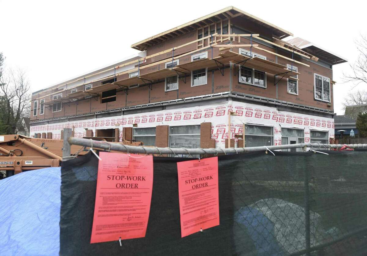 The construction site at 59-63 E. Putnam Ave. in the Cos Cob section of Greenwich, Conn. Wednesday, Jan. 18, 2017.