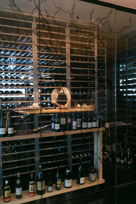 The Morris wine cellar is behind glass windows. Photo: Jen Fedrizzi, Special To The Chronicle