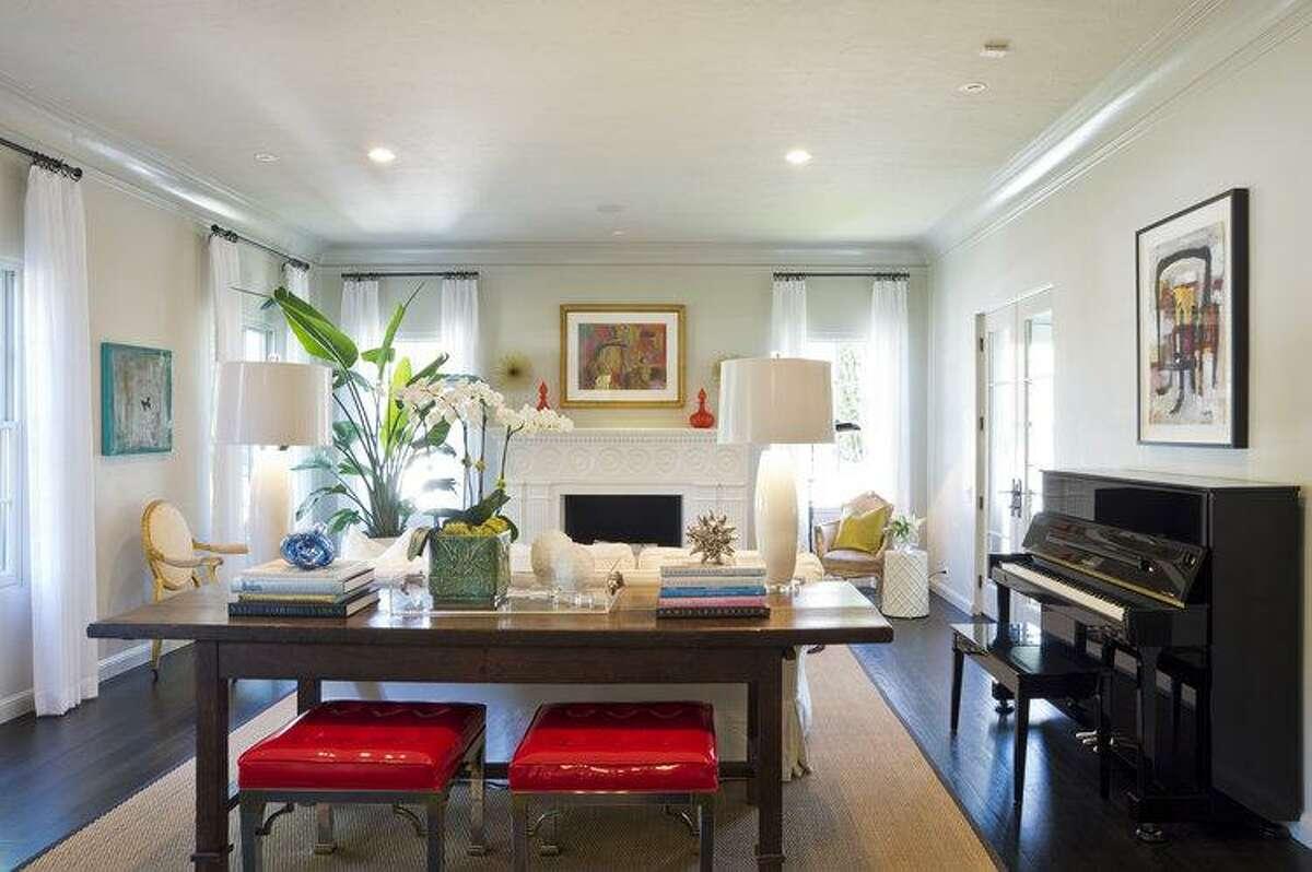 SCHONES: Whitney Schones designed this living room on El Prado Drive.