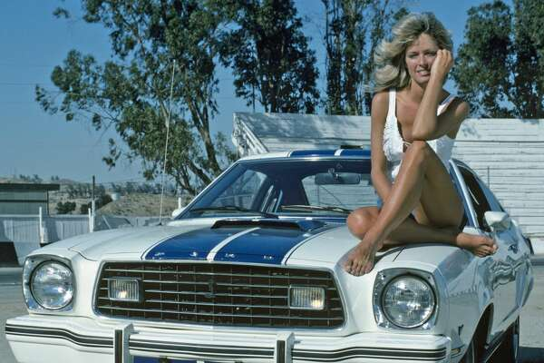 "UNITED STATES - SEPTEMBER 22: CHARLIE'S ANGELS - ""Hellride"" - Season One - 9/22/76 Jill (Farrah Fawcett-Majors, pictured), Sabrina and Kelly learned why a woman driver lost control on a race track. (Photo by ABC Photo Archives/ABC via Getty Images)"