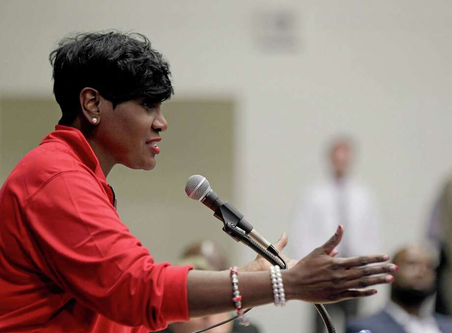 In this file photo, Houston ISD school board President Wanda Adams speaks during the HISD's National Signing day event at the Pavillion at Forest Brook Middle School Wednesday, Feb. 1, 2017, in Houston. Photo: James Nielsen, Houston Chronicle / © 2017  Houston Chronicle