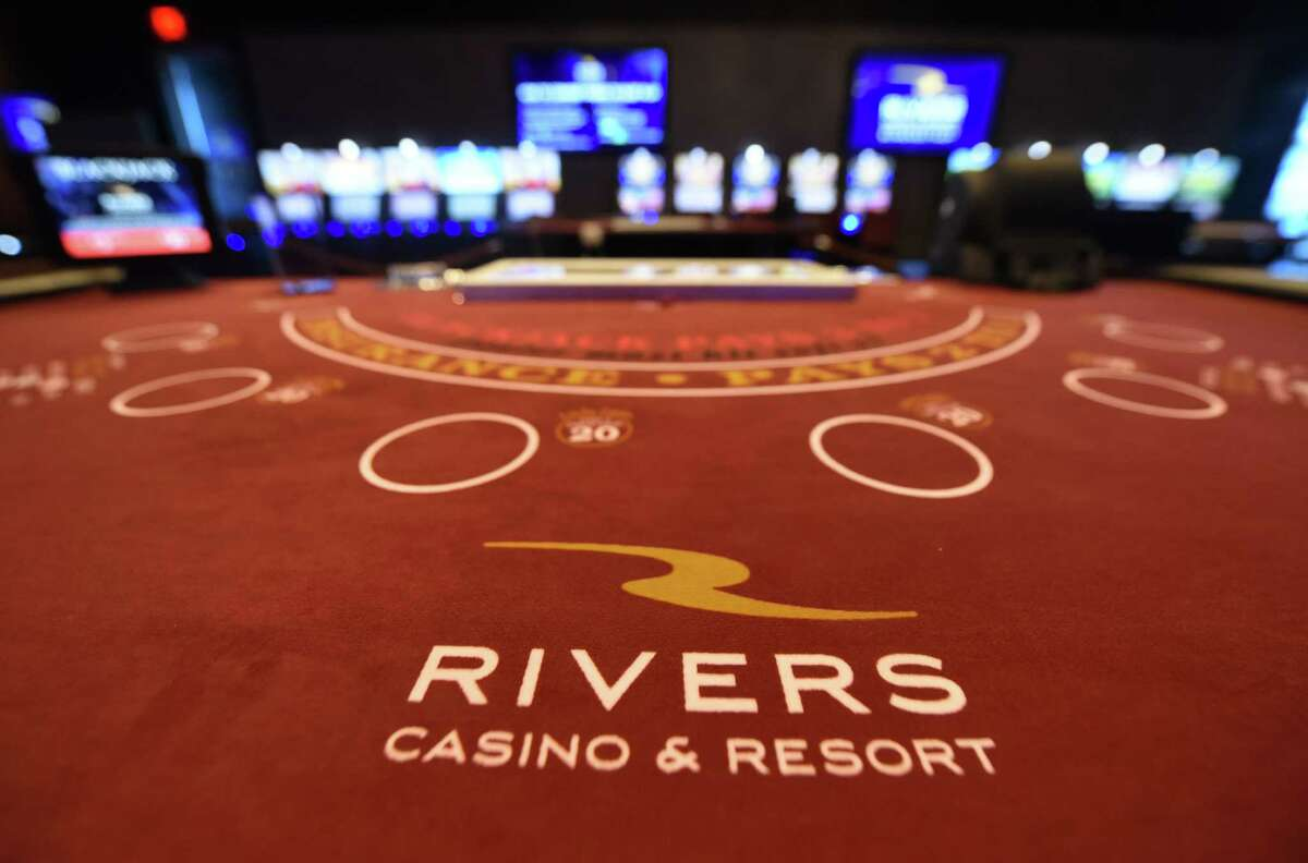 Blackjack table at Rivers Casino & Resort on Wednesday, Feb. 1, 2017, in Schenectady, N.Y. (Will Waldron/Times Union)