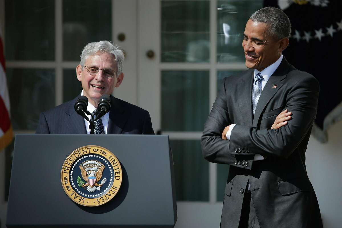 WASHINGTON, DC - MARCH 16: Judge Merrick Garland speaks after being introduced by U.S. President Barack Obama as his nominee to the Supreme Court in the Rose Garden at the White House, March 16, 2016 in Washington, DC. Garland currently serves as the chi