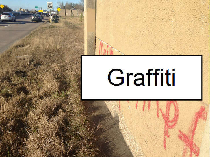Someone painted a pro-Hitler message along a Beltway 8 sound wall near West Road, drawing a complaint.