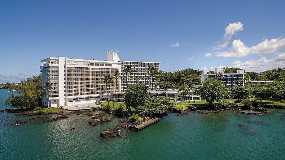 The Grand Naniloa Hotel Hilo, which includes a 9-hole golf course on its 70-acre site on Hilo Bay,  has emerged from a $30 million renovation as a DoubleTree by Hilton with a focus on hula. Photo: Grand Naniloa Hotel Hilo