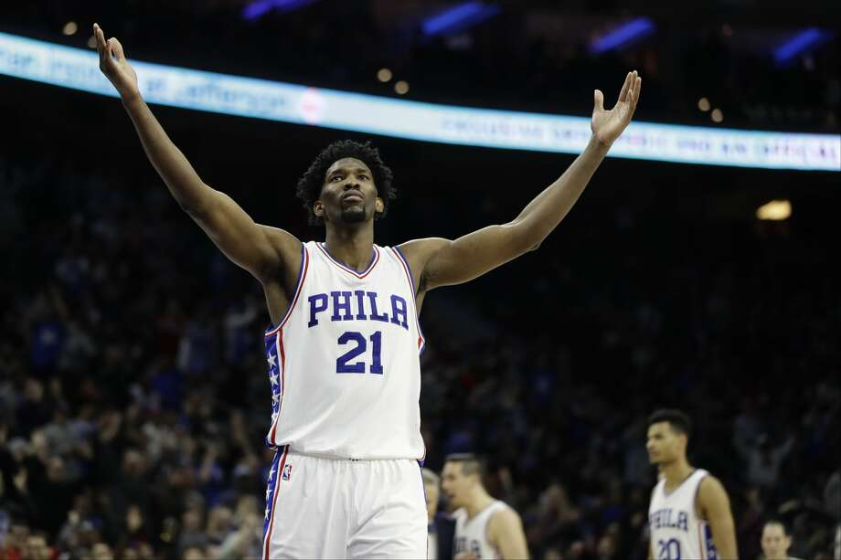 4ae24e617 Philadelphia 76ers  Joel Embiid in action during an NBA basketball game  against the Houston Rockets
