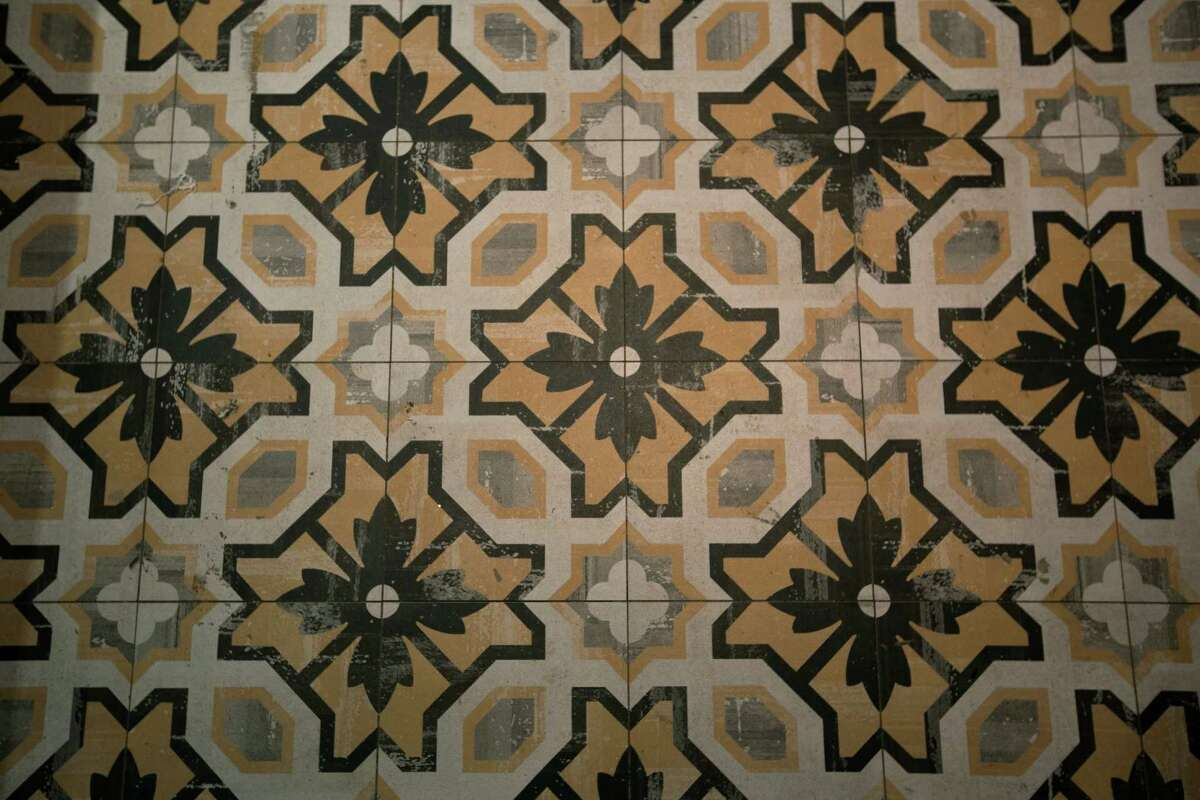 Tile on the floor of the restaurant inside The Sam Houston Hotel, Tuesday, Jan. 17, 2017, in Houston. The Sam Houston Hotel in downtown Houston is currently adding a new restaurant and bar, hoping that they can become a popular hotspot in the neighborhood in addition to their visitors at the hotel.