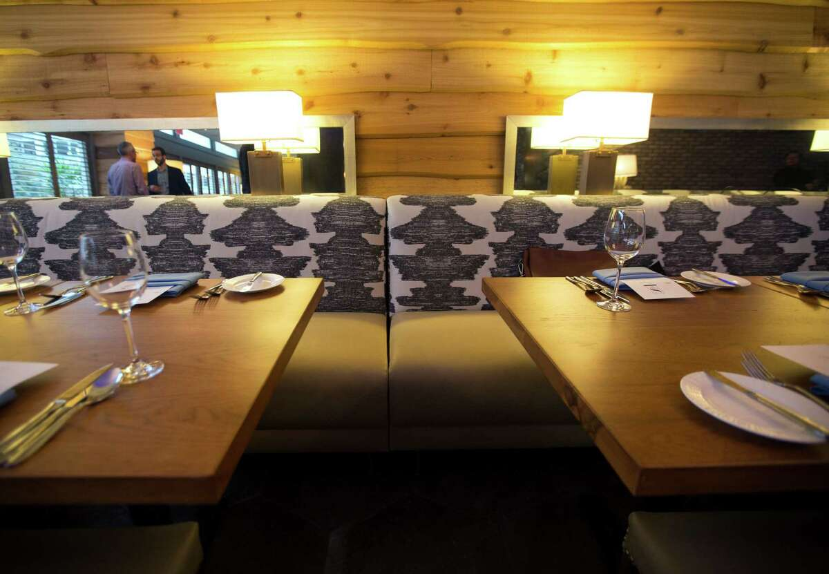 The restaurant inside The Sam Houston Hotel is currently serving meals but is still awaiting further redesign, Tuesday, Jan. 17, 2017, in Houston. The Sam Houston Hotel in downtown Houston is currently adding a new restaurant and bar, hoping that they can become a popular hotspot in the neighborhood in addition to their visitors at the hotel.