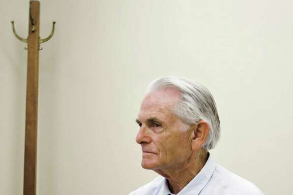 FILE - In this Oct. 4, 2012 file photo, Bruce Davis for the start of a parole hearing at the California Mens Colony in San Luis Obispo, Calif. The 74-year-old former follower of cult killer Charles Manson is scheduled for another parole hearing Wednesday, Feb. 1, 2017, after California governor blocked previous recommendations that he be released from prison. (Joe Johnston/The Tribune of San Luis Obispo via AP, File)