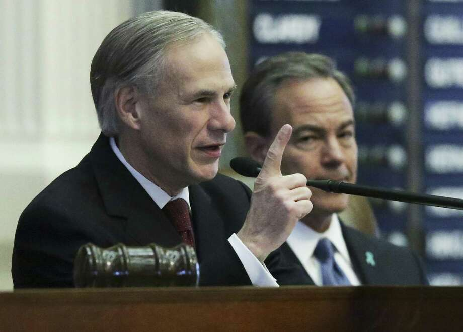 Governor Greg Abbott delivers the State of the State Address in the House Chamber of the Texas Capitol on January, 31, 2017. Photo: Tom Reel, Staff / San Antonio Express-News / 2017 SAN ANTONIO EXPRESS-NEWS