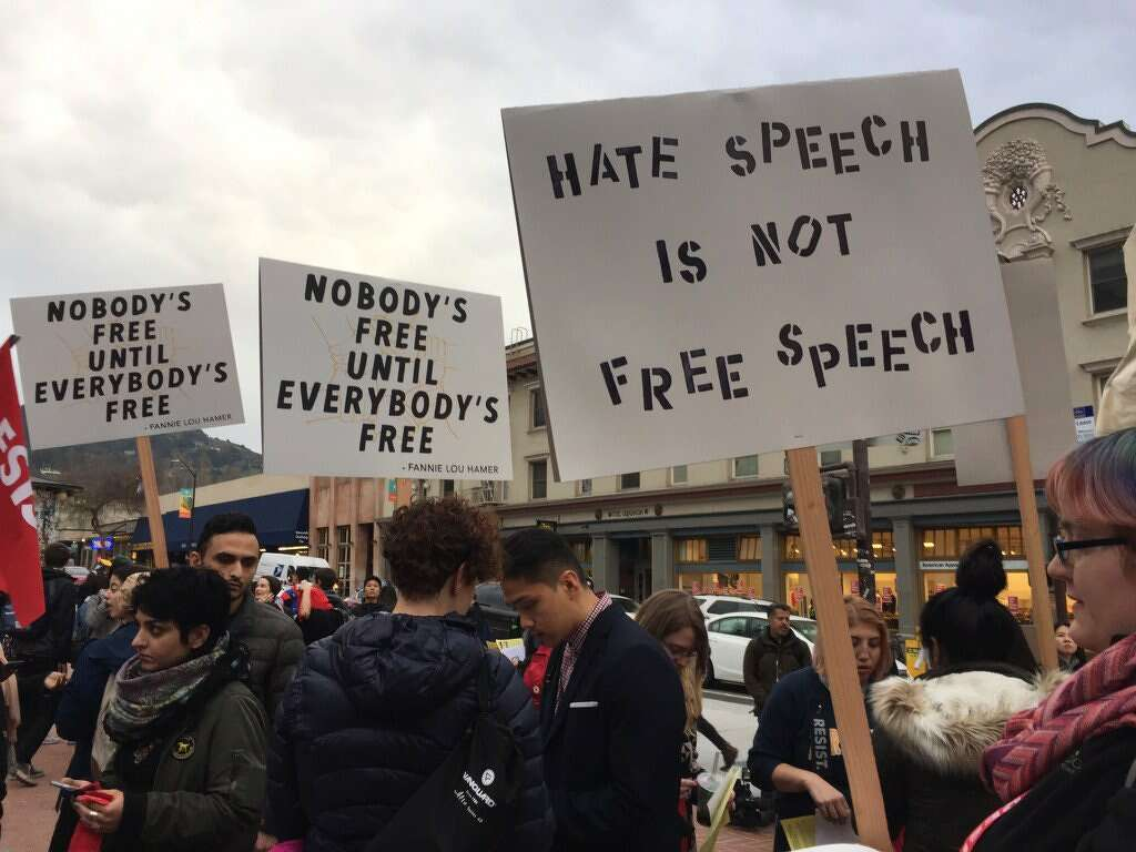 the difference between free speech and hate speech Free speech vs hate speech essays: many moralpoop, law-abiding american citizens find themselves divided between the balance of hate speech and free speech.