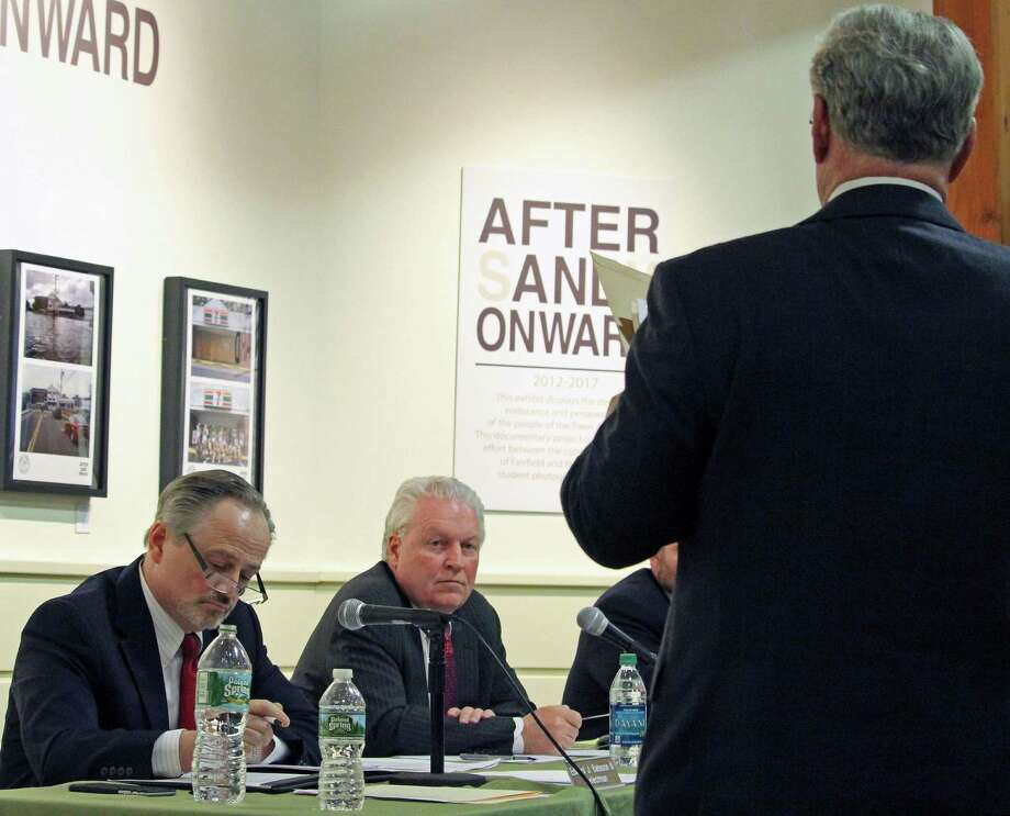 Town Attorney Stanton Lesser delivers a report to the Fairfield Board of Selectmen on Wednesday regarding  special elections. Photo: Genevieve Reilly / Hearst Connecticut Media / Fairfield Citizen