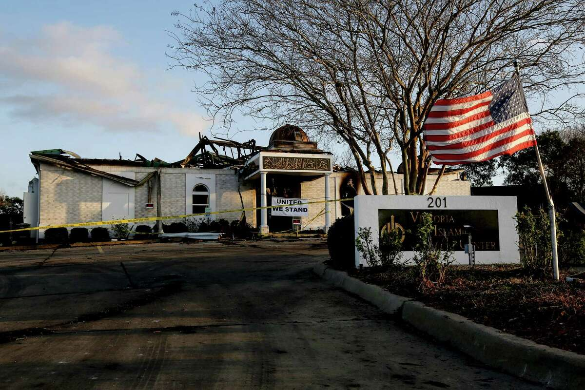 A fundraising page to support rebuilding the Islamic Center of Victoria, which was destroyed in a fire, reached more than $1 million by Wednesday afternoon. (Jon Shapley/Houston Chronicle)