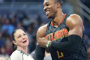 Much like his stay in Houston, Dwight Howard is happy in his early days with the Hawks.