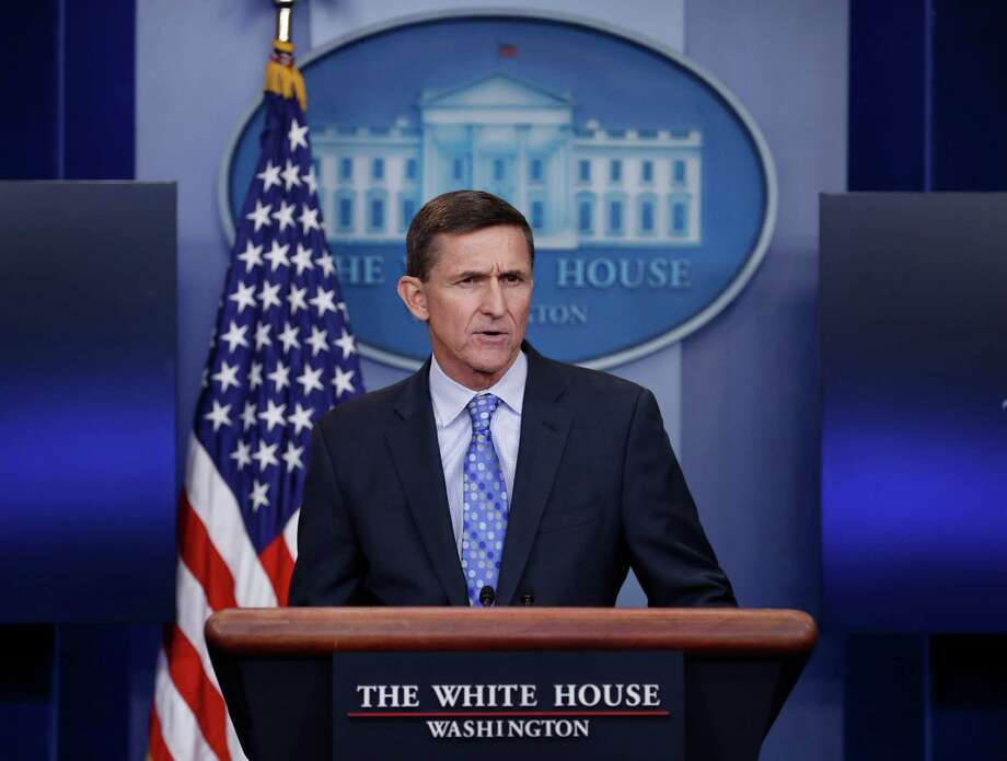 """National Security Adviser Michael Flynn speaks during the daily news briefing at the White House, in Washington, Wednesday, Feb. 1, 2017. Flynn said the administration is putting Iran """"on notice"""" after it tested a ballistic missile. (AP Photo/Carolyn Kaster) ORG XMIT: DCCK107 Photo: Carolyn Kaster / Copyright 2017 The Associated Press. All rights reserved."""