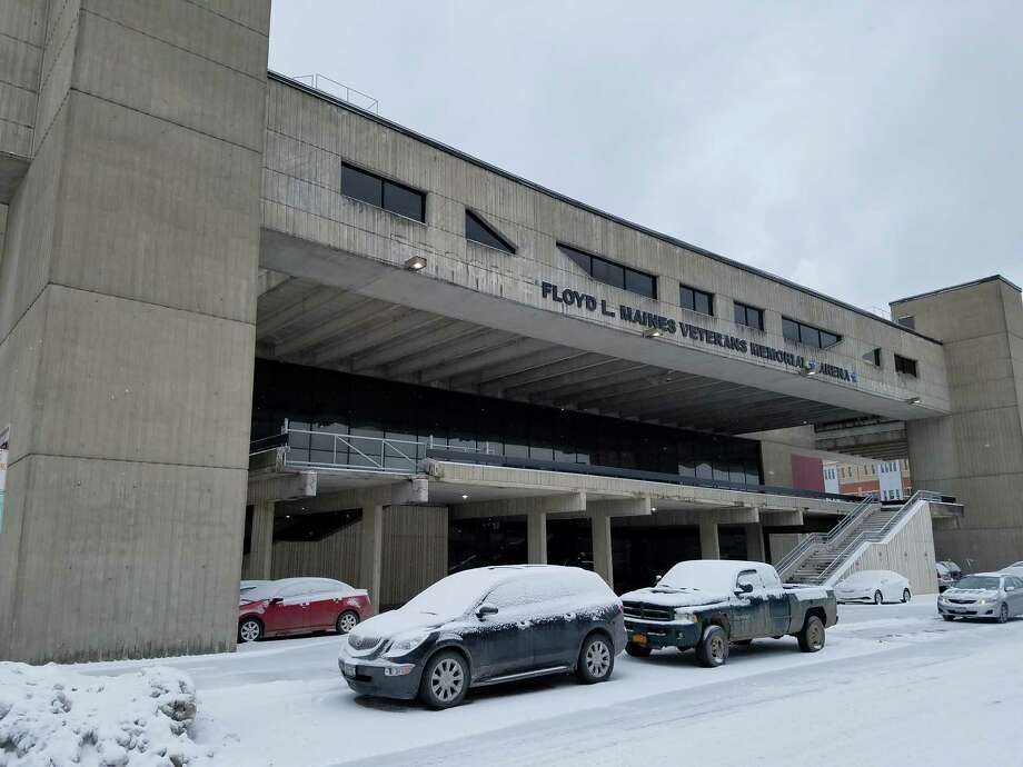 The Albany Devlis minor-league hockey team is relocating to tthe Floyd L. Maines Veterans Memorial Arena in downtown Binghamton. (Chris Churchill / Times Union)