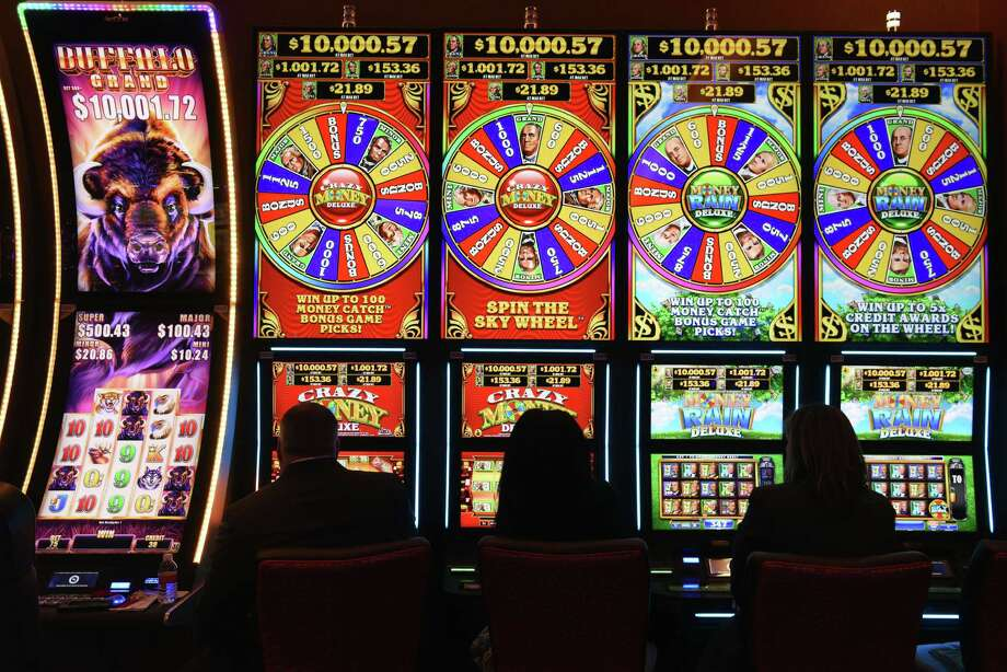 A closer look at bets, wins and losses at Rivers Casino, del Lago Casino and Tioga Casino. Slot machines on the casino floor at Rivers Casino & Resort Schenectady on Wednesday, Feb. 1, 2017, during a media tour in Schenectady, N.Y.  (Will Waldron/Times Union) Photo: Will Waldron / 20039576A