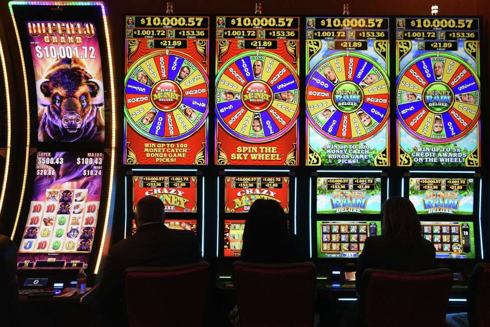 Slot machines on the casino floor at Rivers Casino & Resort Schenectady on Wednesday, Feb. 1, 2017, during a media tour in Schenectady, N.Y. (Will Waldron/Times Union)