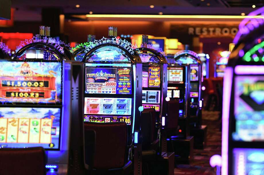 Slot machines on the casino floor at Rivers Casino & Resort Schenectady on Wednesday, Feb. 1, 2017, during a media tour in Schenectady, N.Y.  (Will Waldron/Times Union) Photo: Will Waldron / 20039576A
