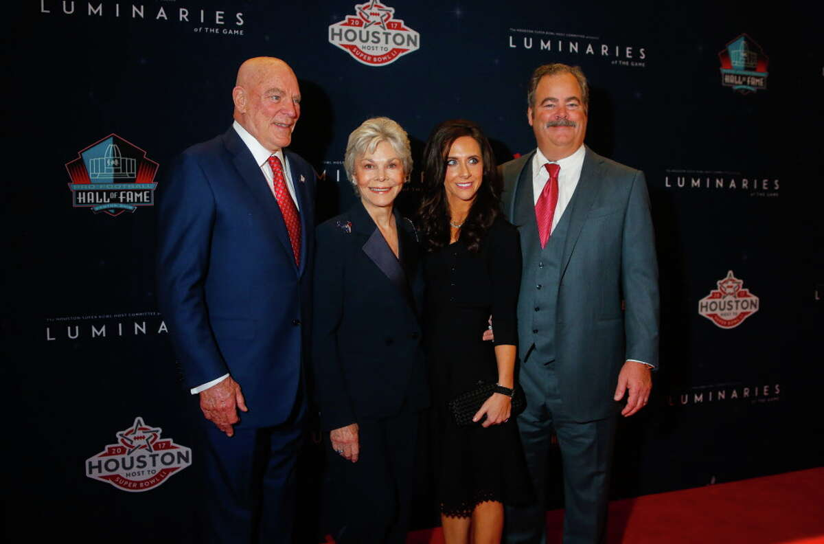 Bob and Janice McNair and Hannah and Cal McNair at the Super Bowl Host Committee's Luminaries of the Game gala honoring Bob and Janice McNair on Wednesday, Feb. 1, 2017. (Annie Mulligan / Freelance)