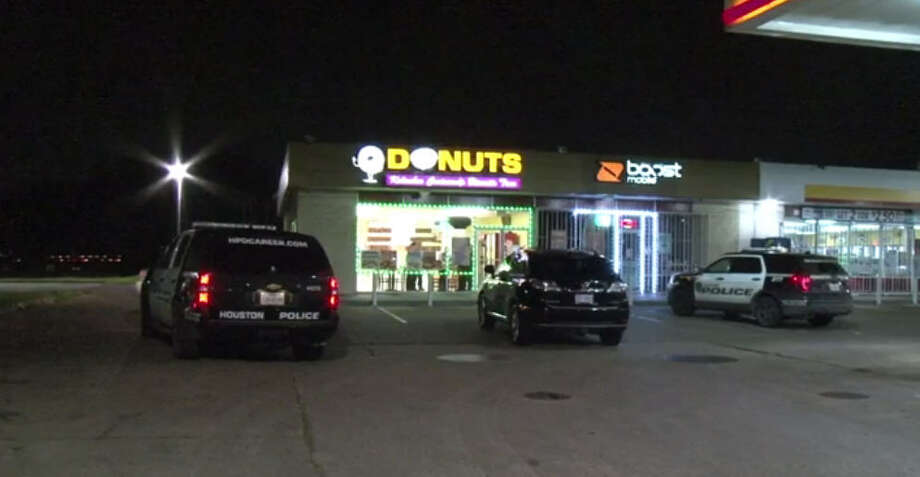 A suspect was taken into custody about 1:30 a.m. Thursday, Feb. 2, 2017, after a burglary at a donut shop at 1100 Broadway in southeast Houston. (Metro Video)