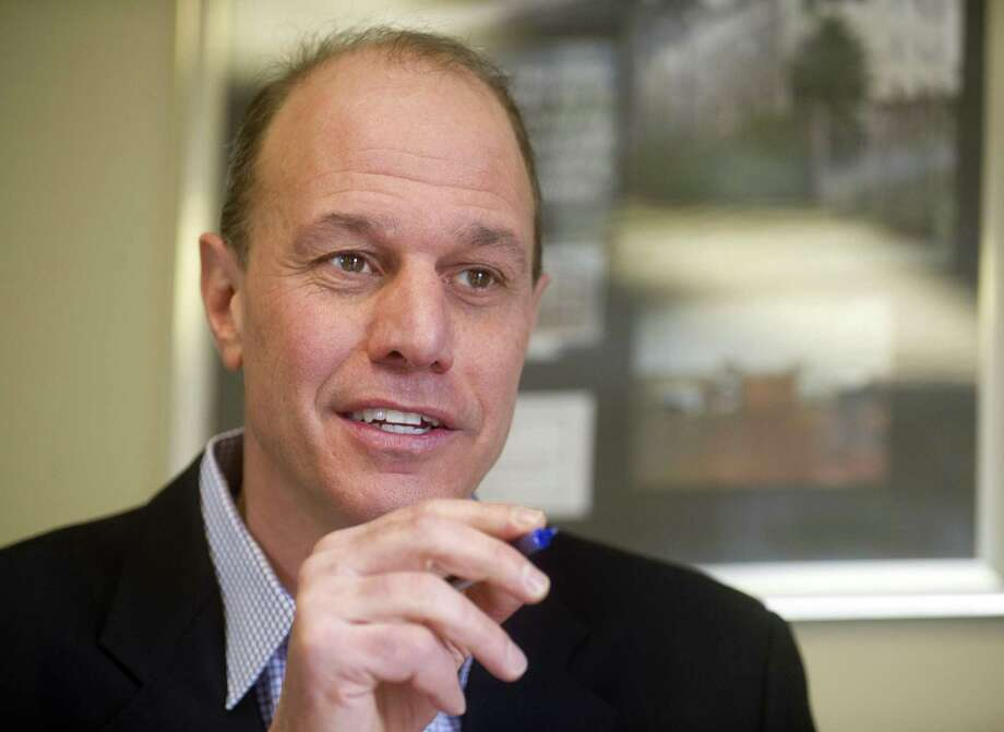 Inspirica CEO Jason Shaplen speaks during a meeting in his office in Stamford, Conn., on Wednesday, March 18, 2015. Photo: Lindsay Perry / Lindsay Perry / Stamford Advocate