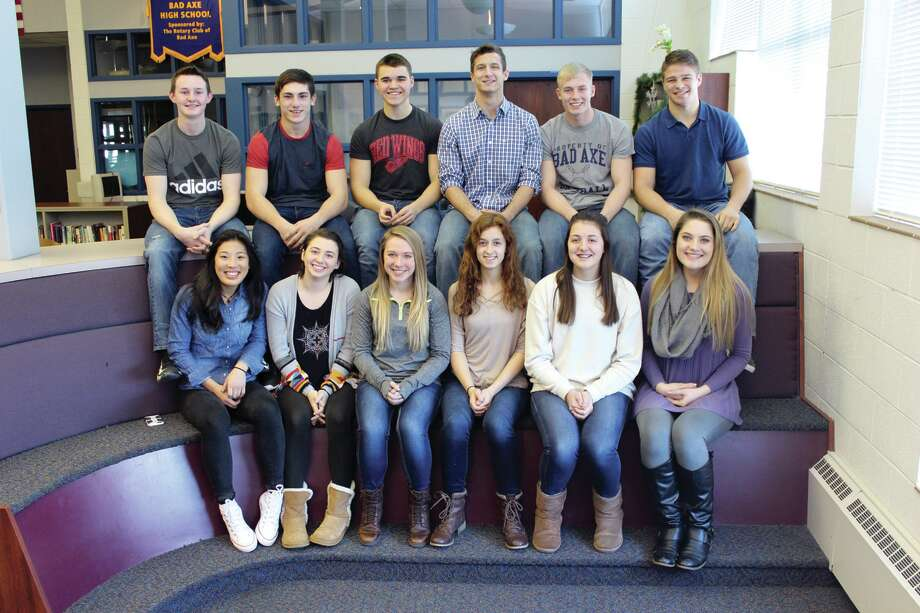 The Snow Carnival Court consists of (bottom row, from left), Cylee Gunn, Courtney Holdwick, Cynthia Labor, Alayna Knarian, Madison Mellendorf and Danielle Maurer; and (top row, from left), Brent Kluger, Dylan Smith, Ethan Krohn, Zachary Jandereski, Gary Jandereski and Charlie Hass. Photo: Submitted Photo