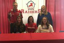 Lumberton seniors Emily Harves and Ali Hebert signed to play with Houston Baptist University and Lamar, respectively, on Wednesday.