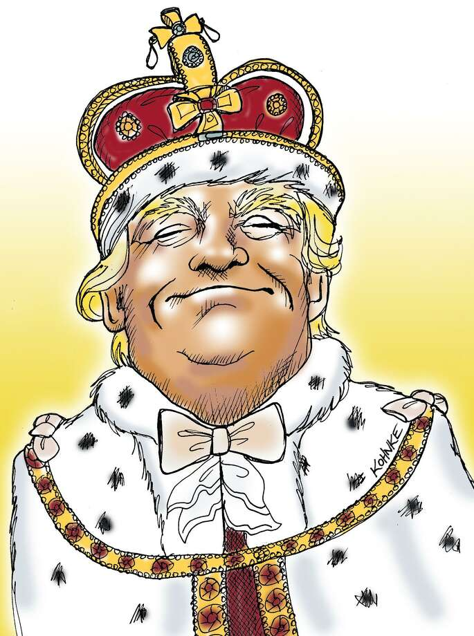 This artwork by Jennifer Kohnke refers to president-elect Donald Trump as a mad king. Photo: Jennifer Kohnke