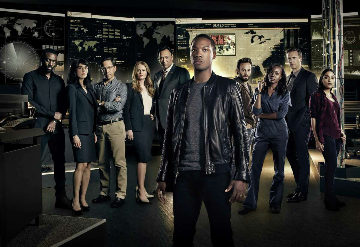 Corey Hawkins as new hero Eric Carter (front center) is part of a diverse cast reflective of the U.S. population.