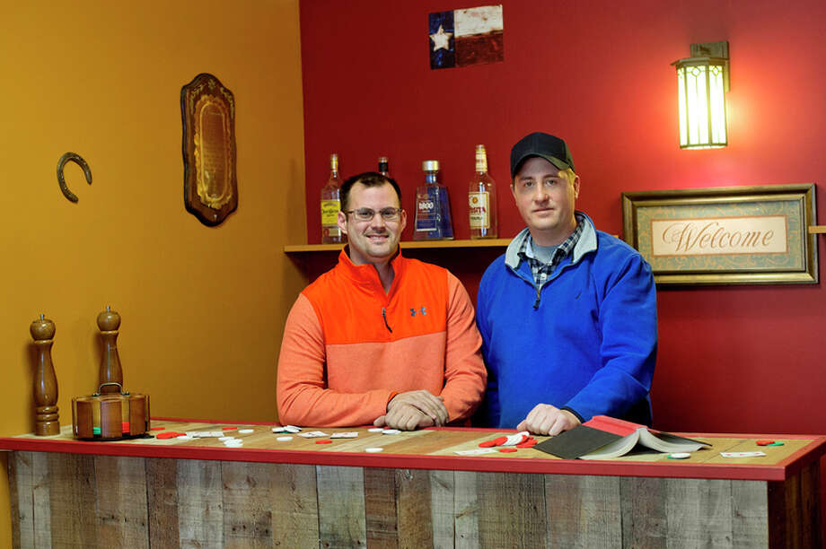 NICK KING | nking@mdn.net  Jeremy Greenwood and Ryan Grandi recently opened Code Breakers Escape and Puzzle Rooms in Midland. / Midland Daily News
