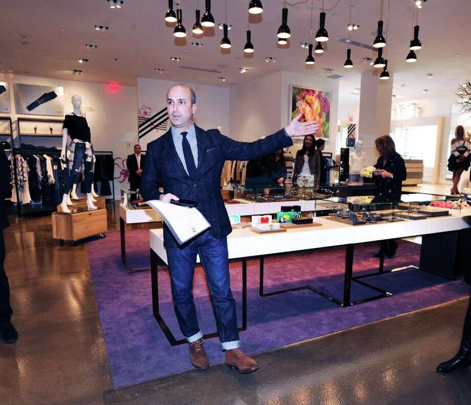 Joe Gambino, vice president and general manager of The Saks Shops at Greenwich, during the celebration and media tour of the new Saks Fifth Avenue specialty store, The Collective, at 200 Greenwich Ave., Greenwich, Conn., Wednesday night, Feb. 1, 2017. The new specialty store format is a 2-level 14,000 square foot store and according to Sak's executives is part of a rebranding of the company's comtemporary retail business. Saks Fifth Avenue is a  luxury retailer. Photo: Bob Luckey Jr. / Hearst Connecticut Media / Greenwich Time