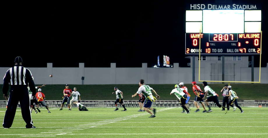 On February 1, the Wounded Warrior Amputee Football Team played  Houston's NFL Alumni in flag football at Delmar Stadium in Houston. The event was sponsored by Humana and Ryder. Photo: Ryder System, Inc. / Ryder System, Inc.