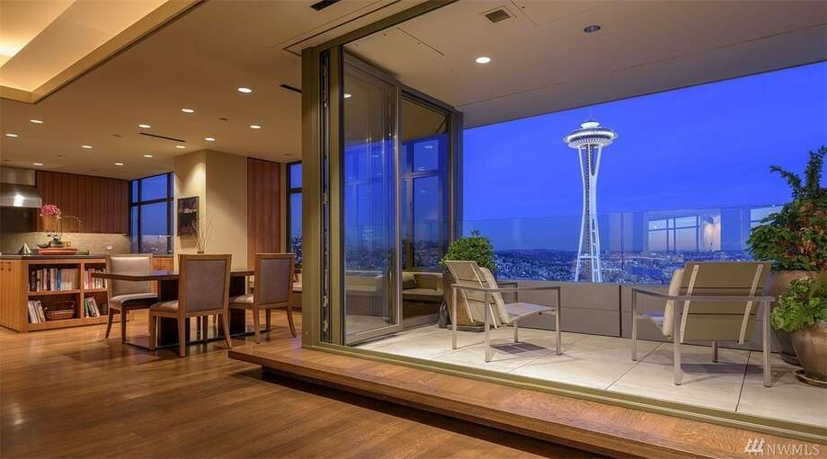 tour the most expensive condo ever listed in seattle sfgate. Black Bedroom Furniture Sets. Home Design Ideas