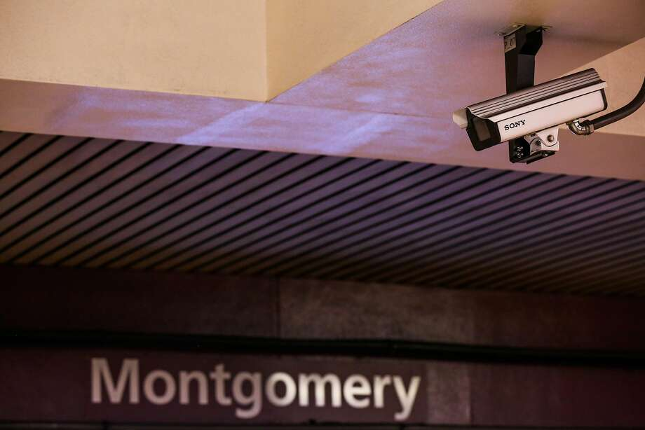 A surveillance camera is seen at the Montgomery BART station in San Francisco on Thursday, Feb. 2, 2017. Photo: Gabrielle Lurie, The Chronicle