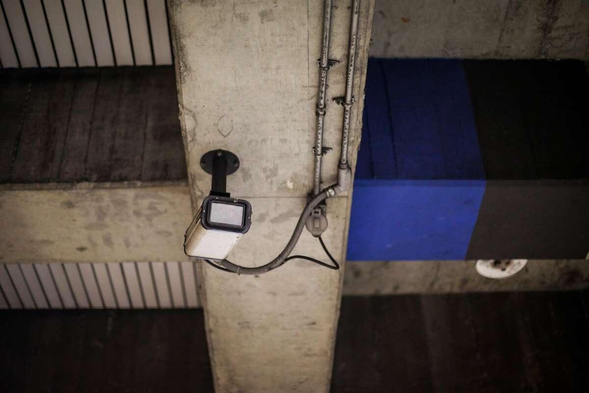 A surveillance camera is seen at the Glen Park BART station in San Francisco, California, on Thursday, Feb. 2, 2017.