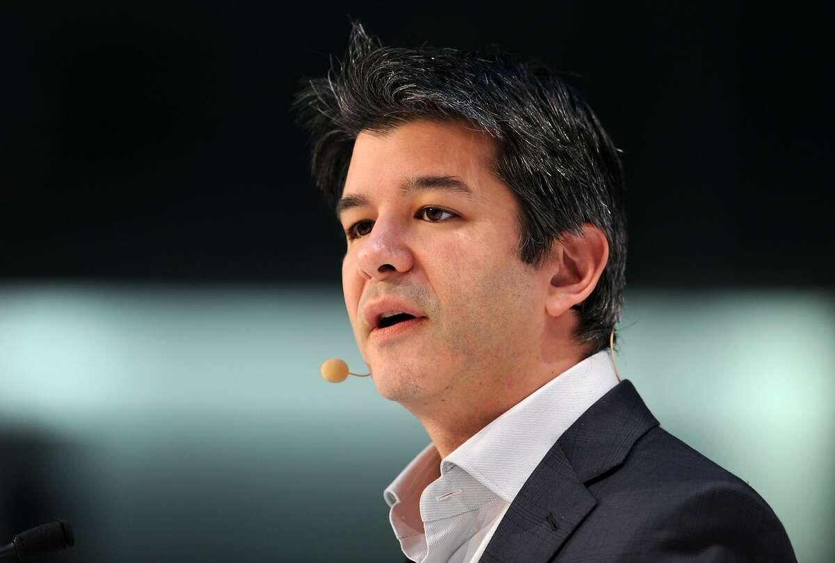 A file photo of Uber CEO Travis Kalanick.