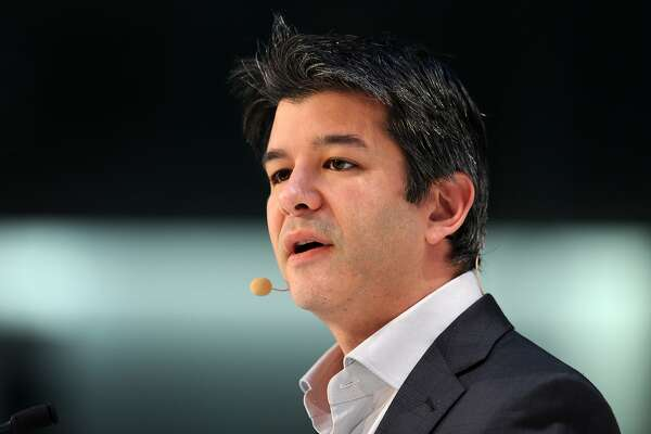 """A picture taken on January 18, 2015 shows Travis Kalanick, co-founder of the US transportation network company Uber, speaking during the opening of the Digital Life Design (DLD) Conference in Munich, southern Germany. The car-sharing start-up Uber can create as many as 50,000 jobs in Europe this year as part of a """"new partnership"""" with European cities, its chief executive told at the conference in Munich. AFP PHOTO / DPA / TOBIAS HASE +++ GERMANY OUTTOBIAS HASE/AFP/Getty Images"""