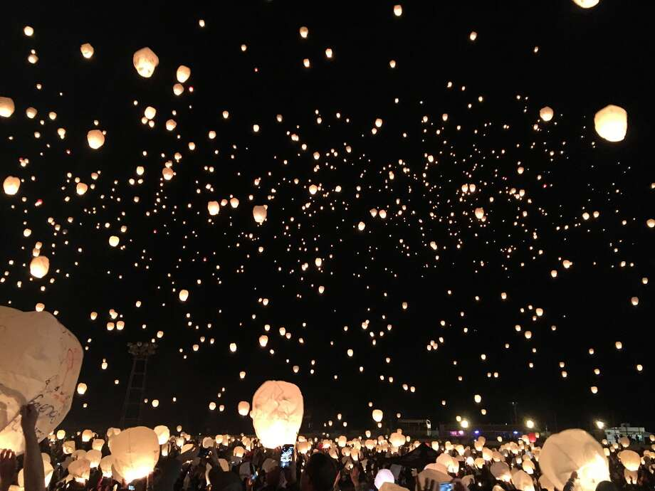 A view of the 2016 Lantern Fest, which drew some 7,600 spectators to Brookdale Farms. Photo: For The Edge