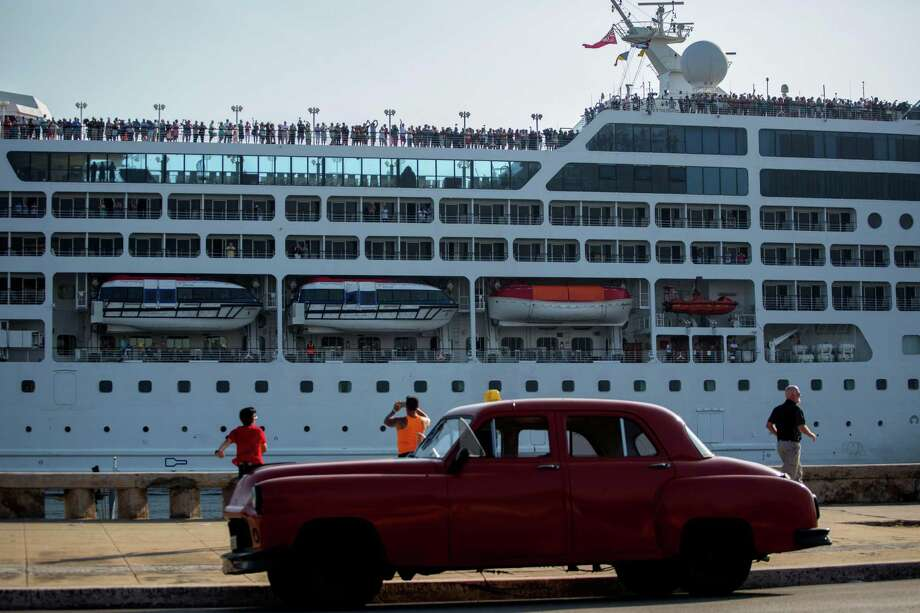 FILE - This May 2, 2016, file photo, shows the Adonia cruise ship arriving in Havana, Cuba, from Miami. The Adonia, operated by Carnival Corporation's Fathom brand, is scheduled to continue cruises to Cuba every other week through the last week in May. Havana is also on the itinerary for sailings from Florida in April and May aboard Royal Caribbean's Empress of the Seas ship and in May on Norwegian Cruise Line's Norwegian Sky. Long-term prospects for cruises and other forms of travel from the U.S. to Cuba remain uncertain under the new administration of President Donald Trump. (AP Photo/Desmond Boylan, File) ORG XMIT: NYLS208 Photo: Desmond Boylan / Copyright 2017 The Associated Press. All rights reserved.