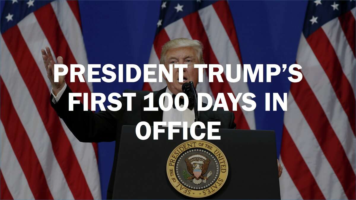 Click through this slideshow to see the executive orders and some other actions President Donald Trump took during his first 100 days in office.