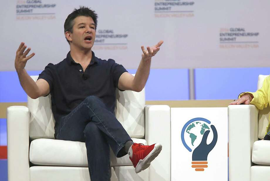 Uber Technologies Inc. CEO Travis Kalanick will step down from President Donald Trump's economic advisory council after criticism from customers and drivers. Photo: Liz Hafalia /San Francisco Chronicle / online_yes