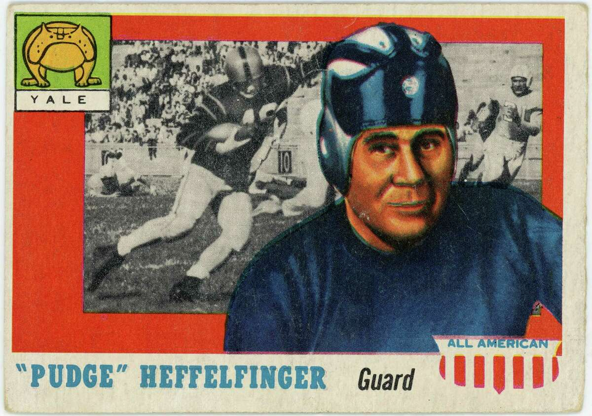 """""""Pudge"""" Heffelfinger was not only an All-American, as his trading card proclaims, but the first All-American."""