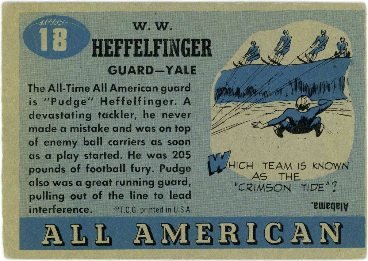 """""""Pudge"""" Heffelfinger was """"205 pounds of football fury,"""" his trading card proclaims."""