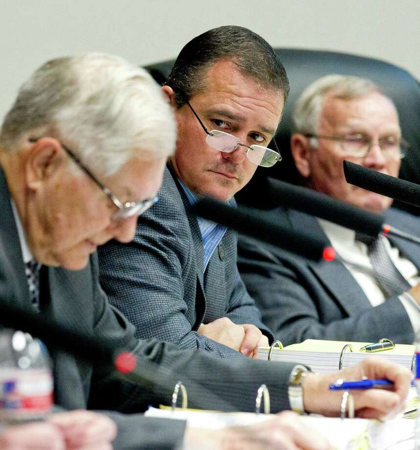 Conroe City Councilman Duane Ham listens to Councilman Guy Martin discuss sending him to Austin to lobby for the city regarding water related legislation during a city council meeting Wednesday, Jan. 26, 2017, in Conroe. The council approved a budget up to $50,000 for Hamé•s appointment. Photo: Jason Fochtman, Staff Photographer / Houston Chronicle