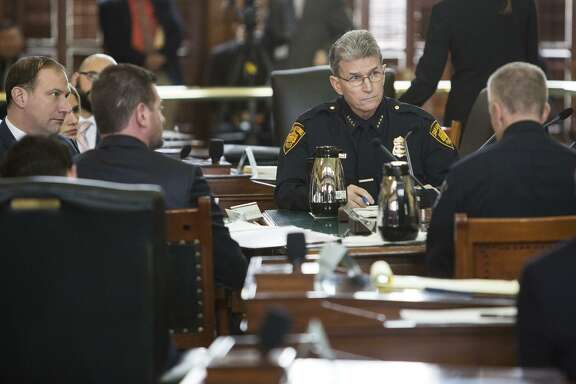 Police Chief William McManus  testifies during the Senate Committee on State Affairs meeting about Senate Bill 4 at the Texas Capitol in Austin, Texas on February 2, 2017.