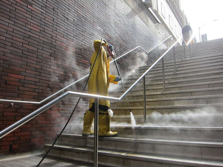 FILE PHOTO: A BART station cleaner. Photo: BART