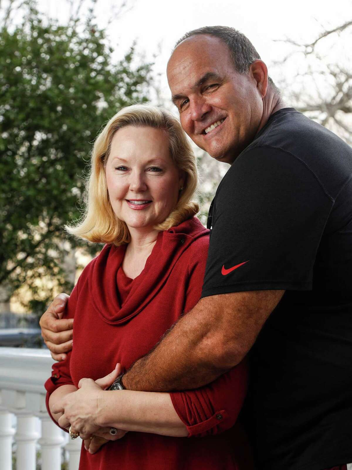 Carrie and Bruce Matthews photographed at their home, Wednesday, February 1, 2017. Feature on what it's like raising an NFL player, life in an NFL family with Carrie Matthews, the wife of Hall of Famer Bruce Matthews and mother of Jake Matthews, the starting lineman for Atlanta in Super Bowl.( Karen Warren / Houston Chronicle )