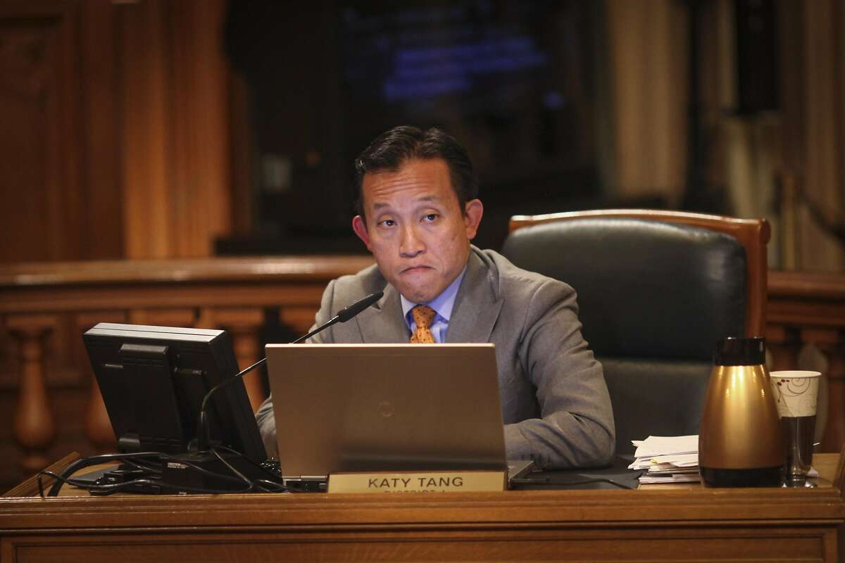 David Chiu, president of the San Francisco Board of Supervisors, watches as fellow Supervisors pass his bill to regulate Airbnb and other short term rentals a Board of Supervisors meeting which San Francisco on October 7th 2014.