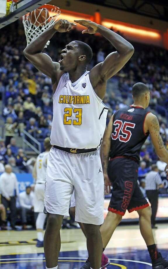 California's Jabari Bird celebrates a Utah turnover during Cal's 77-75 double overtime win in Pac12 men's basketball game at Haas Pavilion in Berkeley, Calif., on Thursday, February 2, 2017. Photo: Scott Strazzante, The Chronicle